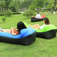 240 70cm Banana Lazy Bag Inflatable Air Sofa 190T Nylon Laybag Air Sleeping Bag Camping Portable