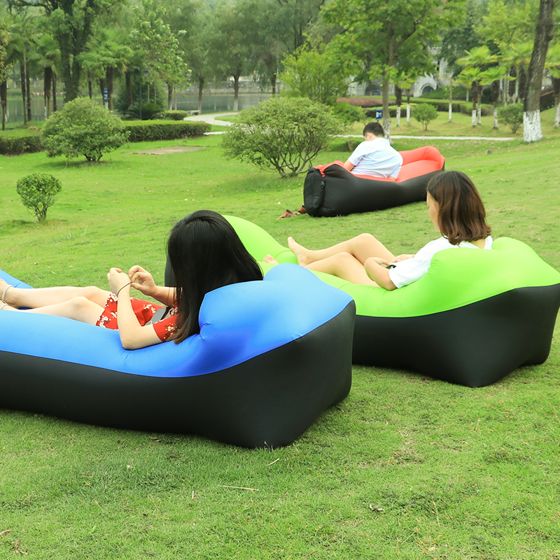 Sports & Entertainment Professional Sale 240*70cm Fast Inflatable Sofa Lazy Bag Air Sofa Sleeping Bag Camping Portable Air Chair Beach Bed Air Hammock Nylon Sofa Lounger