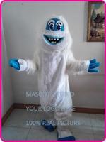 mascot Winter Christmas Yeti Mascot Costume Abominable Snowman Theme Cartoon Yeti Mascotte Xmas Costumes Fancy Dress Kits