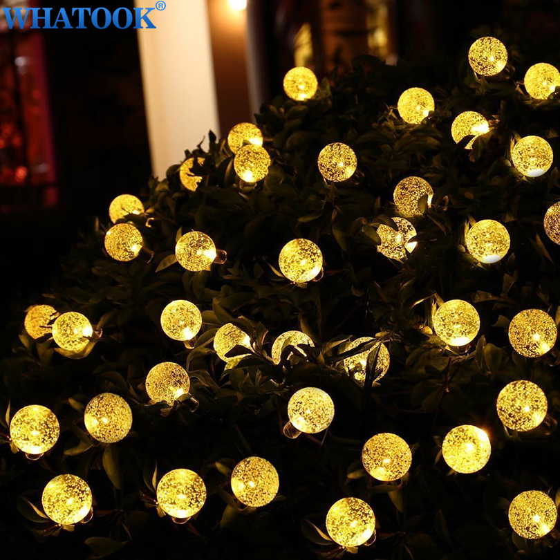5m 10m garland ball string light battery powered christmas light for holiday wedding indoor outdoor luces