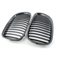 GLOSS BLACK FRONT KIDNEY GRILLE FOR BMW F01 F02 7 SERIES 730d 740i 750i 2009 15