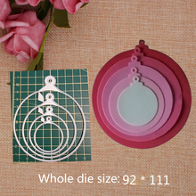 Special DIY Circle Cutting Dies Mold New Scrapbook Paper Craft Knife Mould Blade Punch Stencils Metal 92*111mm