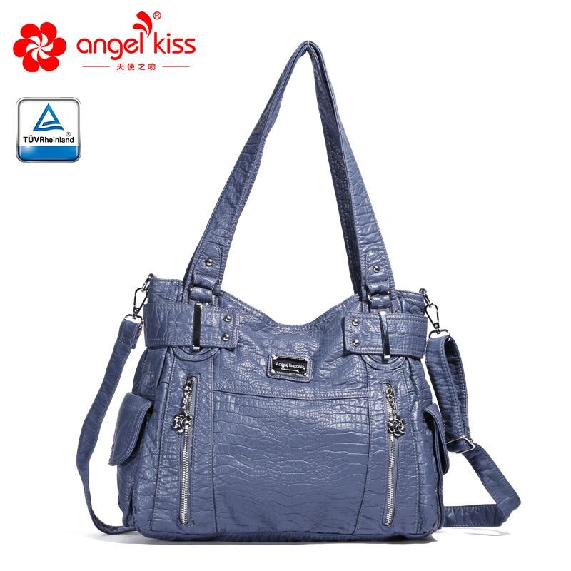 Offre spéciale Style européen poches doux sac à bandoulière en cuir synthétique polyuréthane pour les femmes 2019 nouveauté grande capacité sacs à main