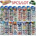 5 unids/lote 100% Hotwheels coches de carreras de coches miniaturas Originales venta caliente hobby maquetas mini aleación de coches de juguete para niños colección