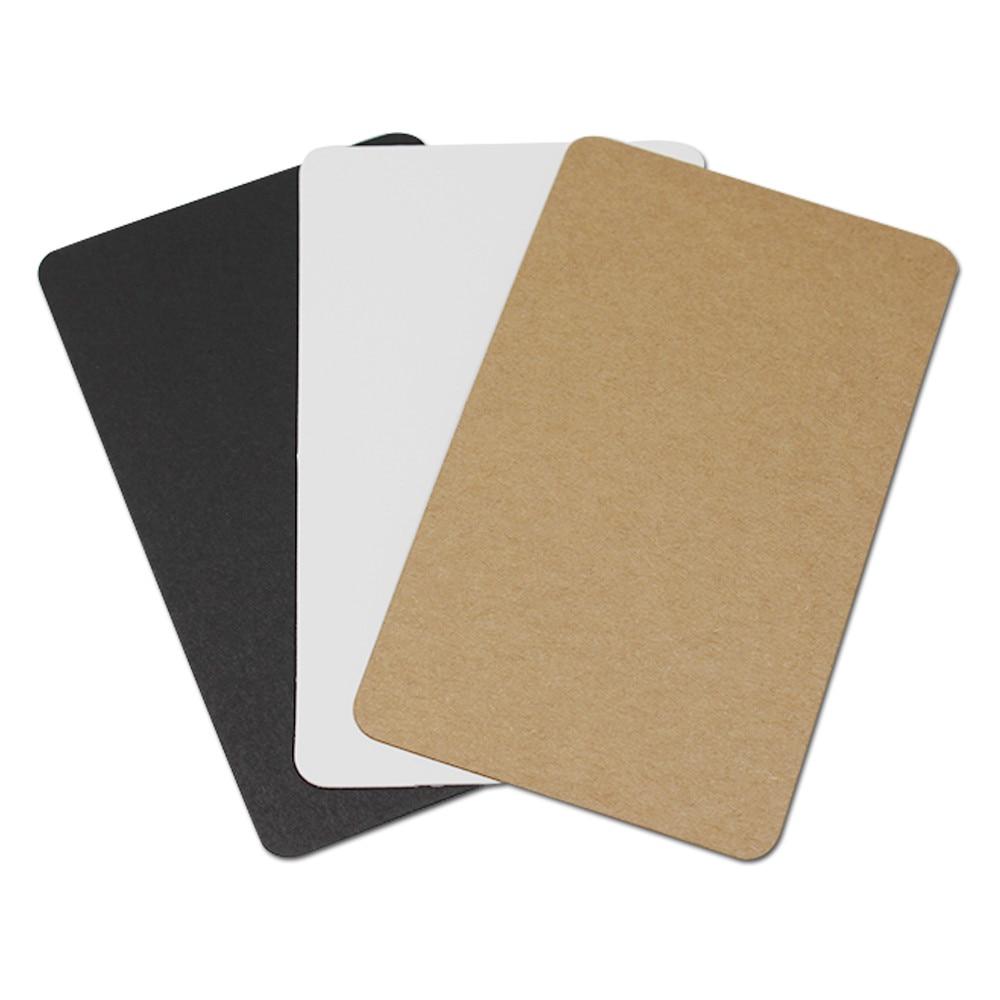 100 Adet / grup 6 * 10 cm Kalın Kraft Kağıt DIY Scrapbooking - Tatiller ve Partiler Için - Fotoğraf 1