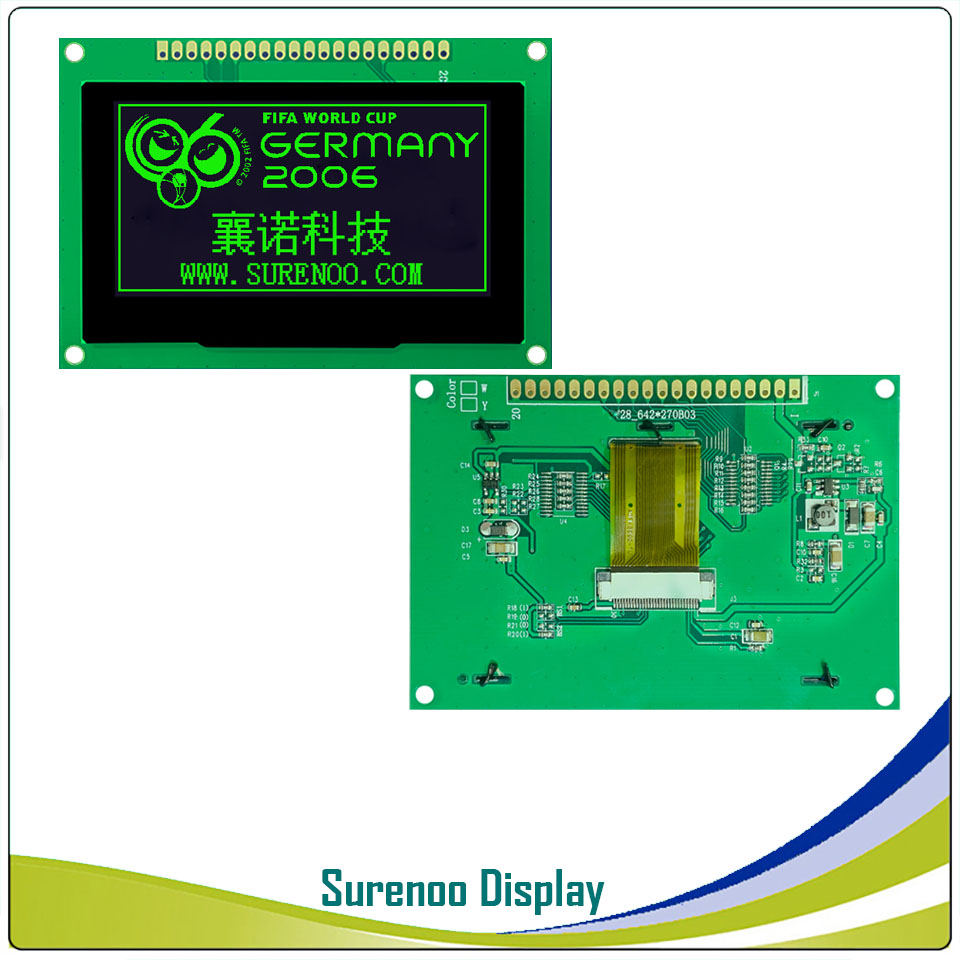 """Image 4 - Real OLED Display, 2.7"""" 128*64 12864 Graphic LCD Module Display Screen LCM Screen SSD1325 Controller Support Parallel SPILCD Modules   -"""