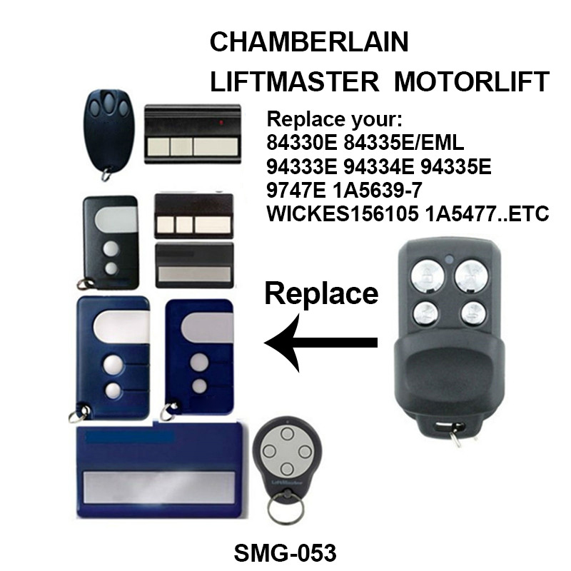 Newly 1 Pcs Car Garage Door Remote Control Key Portable Replacement for <font><b>94335E</b></font> <font><b>Liftmaster</b></font> image