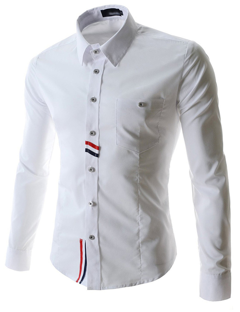 be8c817c8 2015 Single Breasted Solid Camisa Jeans Long Sleeve Casual Autumn New  Arrival Men Shirts White Black