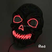Creative Horror Led Light Halloween Mask Holiday Lighting Festival Gala Show EL Wire Creepy Mask As