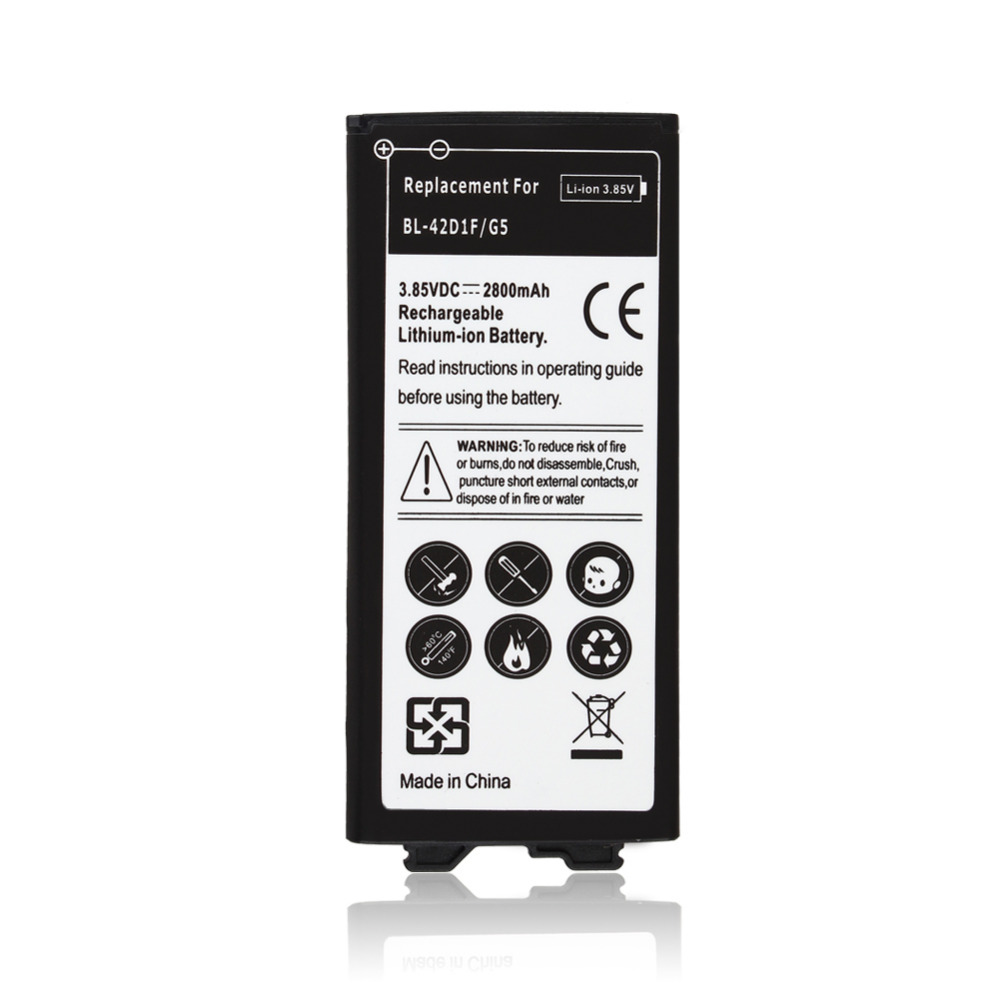 2800mAh Phone Replacement Li-ion Battery BL-42D1F For <font><b>LG</b></font> <font><b>G5</b></font> H850 US992 F700S H860 2800mAh Cell Phone Batterie <font><b>Bateria</b></font> Batterij image