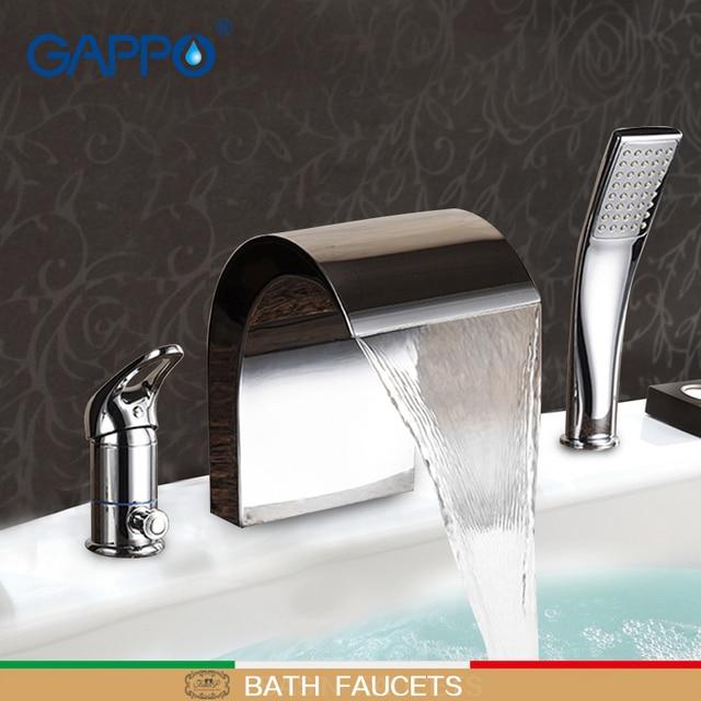 Go Bathtub Faucet Bathroom Taps Mixer Water Waterfall Br Bath Faucets Tap Basin