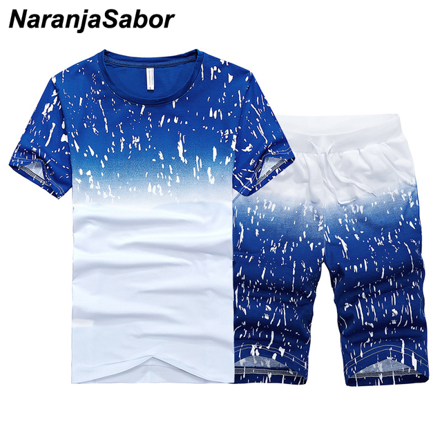 NaranjaSabor Summer New Men's Shorts Casual Suits Sportswear Mens Clothing Man Sets Pants Male sweatshirt Men Brand Clothing 4XL 1