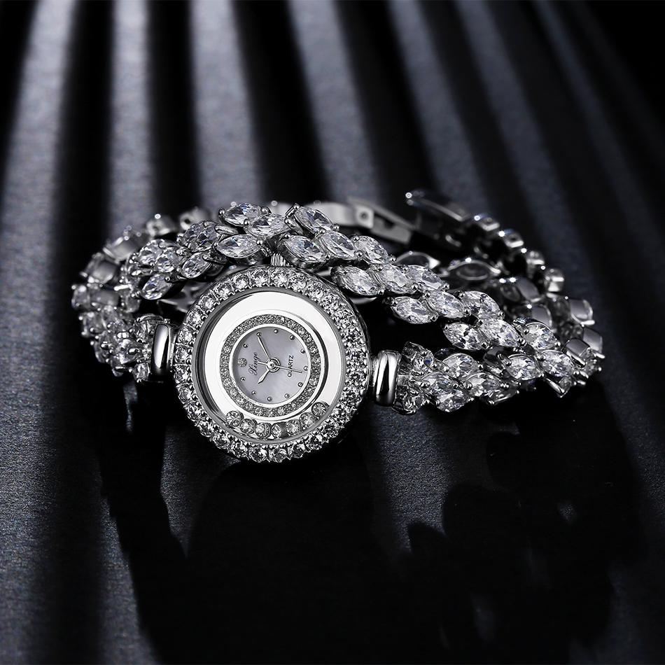 Women Zircon Watches Xinge Famous Brand Women Bracelet Watch Fashion Women Crystal Dress Quartz Watches Christmas Gift S0232