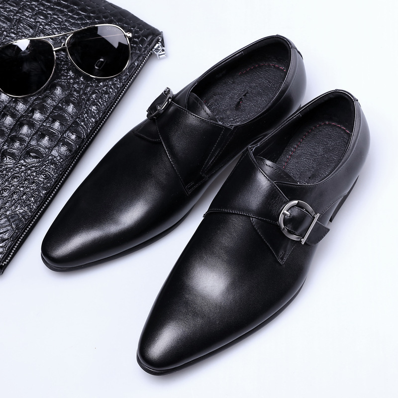 AF03 New Fashion Business Shoes Men Leather Quality Casual Breathable Party Latin Ballroom Dance Shoes Men Leather Big Size