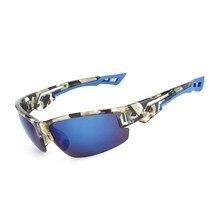 Camuflagem dos homens Revestimento de Óculos De Sol Retângulo Espelho Óculos  de Sol Dos Homens de Condução de Pesca Ao Ar Livre . afd5fdf78b