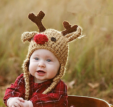 Baby Hat Reindeer Hat Baby Reindeer Hat Newborn Deer Hat Cute and Soft  Earflap by JoJosBootique-in Hats   Caps from Mother   Kids on  Aliexpress.com ... 1f2a39f7862