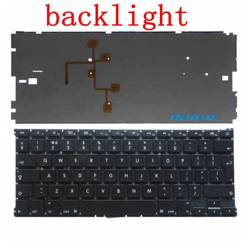 NEW UK Keyboard For Macbook Air 13 A1466 A1369 with backlight Laptop keyboard MD231 MD232 MC503 MC504 2011-15 Years russian ru new laptop keyboard for macbook air 13a1466 a1369 keyboard md231 md232 mc503 mc504 2011 15 years