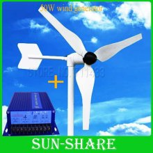 DHL free shipping 50w wind generator +100w wind solar hybrid controller for lighting ,small fans ,laptop