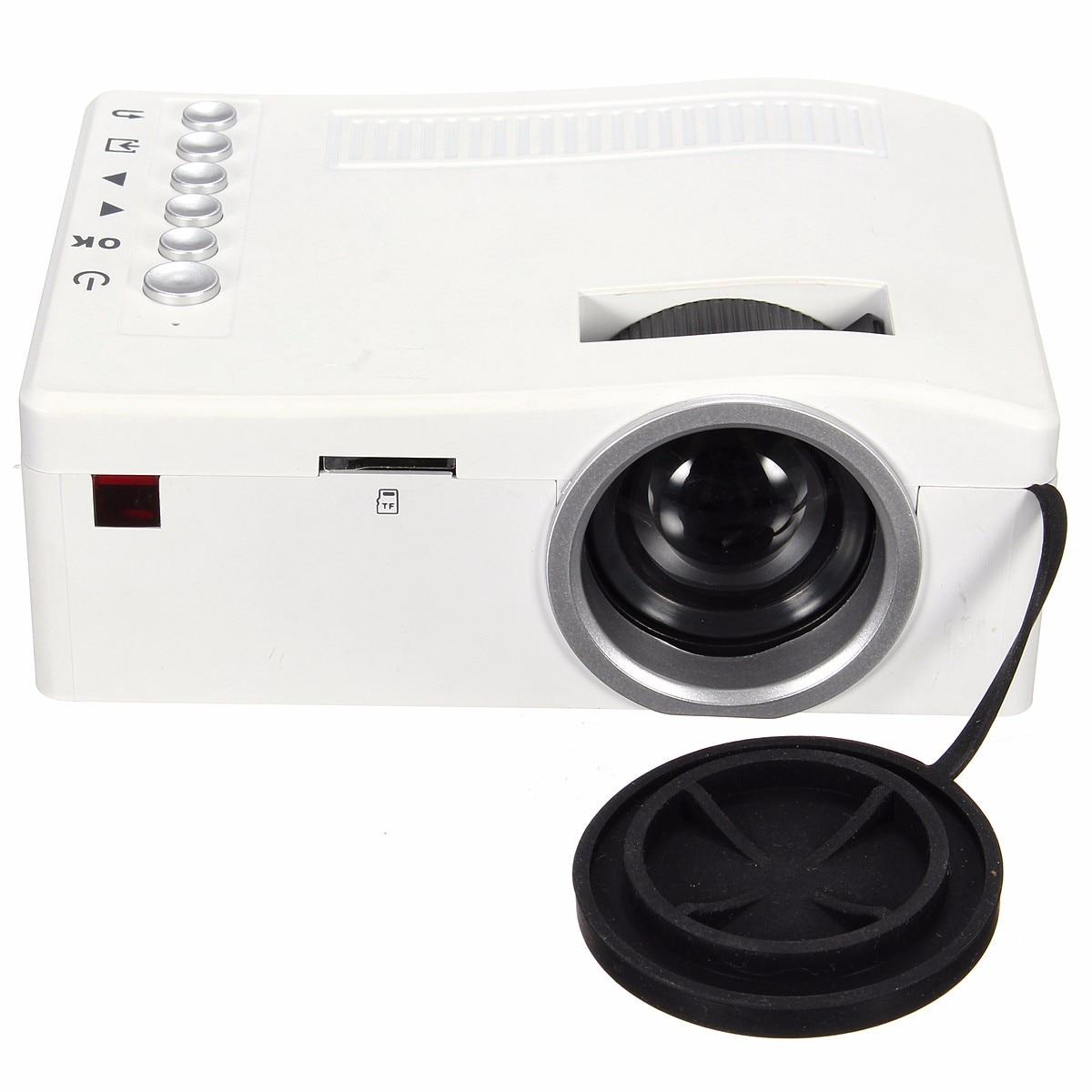Portable Mini Full HD 1080P 320 x 180 Resolution LED Projector Cinema Theater PC VGA USB SD AV Input HDMI Home Theatre System