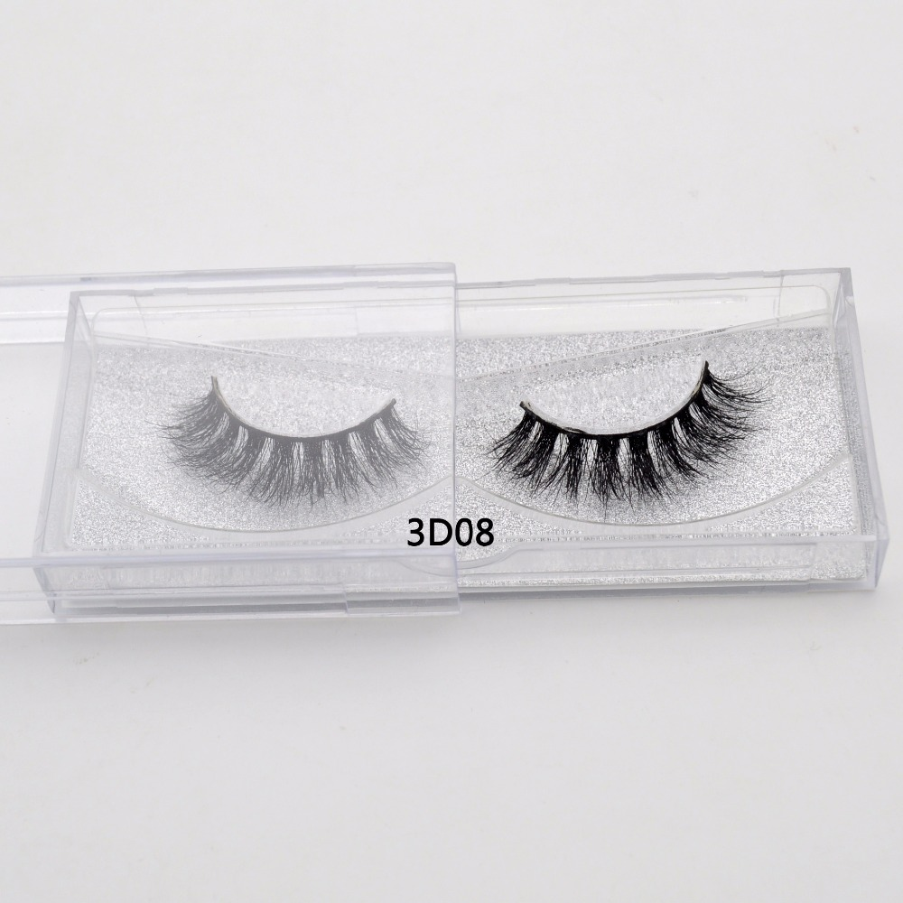 Visofree Eye Lashes Natural 100% Handmade False Lashes Thick Sexy Long Real Mink  Cruelty Free Reusable 3D Mink Lashes 3D08