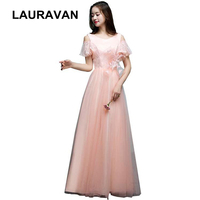 pageant spring summer woman bridesmaid dress tulle ball gown 2019 for girls party dresses new fashion 2018 long for wedding