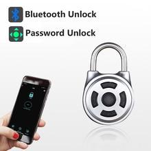 RAYKUBE Bluetooth Lucchetto APP/Password Codice di Sblocco Elettronico Lucchetto Per Porta/Box/Deposito/Cabinet/Bici