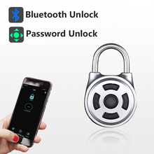 RAYKUBE candado electrónico con Bluetooth para puerta, caja, equipaje, armario, bicicleta, desbloqueo de código de contraseña