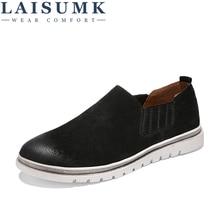 2019 LAISUMK Men Casual Shoes Fashion Men Shoes Genuine Leather Men Flats Driving Moccasins Slip On Loafers Sapatos Homens недорого