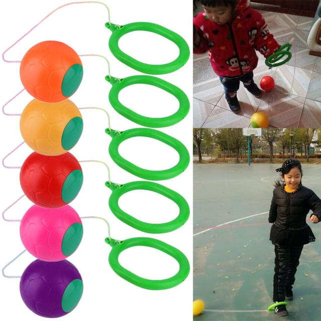 6 Colors Skip Ball Outdoor Fun Toy Balls Classical Skipping Toy Fitness Equipment Toy New Hot!