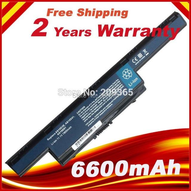 New 7800mah laptop battery AS10D71 for Packard Bell EasyNote TM99 TS11 TS13 LS11HR LS11SB LS13SB LS44HR TS44 TS45 NS85