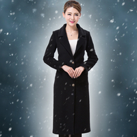 Thick ! Hotel Reception Desk Coat Winter Woolen Coat Woolen Uniform Female Models Coat