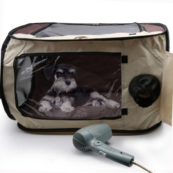 Portable Pet Dog Kennel House Travel Pet Dogs Cats Hair Dryer Clean Grooming House Bag Hairdryer Drying Box