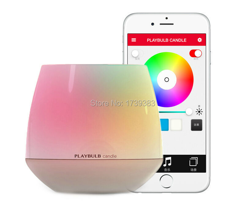 Fashion MIPOW PLAYBULB Smart Bluetooth LED Candle Light Creative Home Wireless Aromatherapy Nightlight with APP Control Color mipow playbulb sphere bluetooth intelligent led light with app control