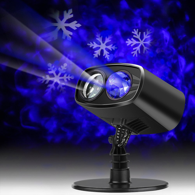 Christmas Halloween Party LED Laser Projector Lights Snowflake Spide Moving Projector Landscape Stage Light Show Sparkling Light kmashi snowflake projector lights outdoor led laser stage chrismas halloween decoration light for dj bar party garden home eu us