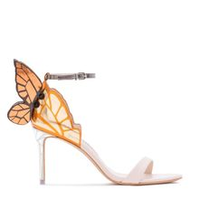 2019 Women Stiletto Heel Sandals Open Toe Party Wedding High Heels Crystal Colorful Butterfly Wing Designer Shoes Woman