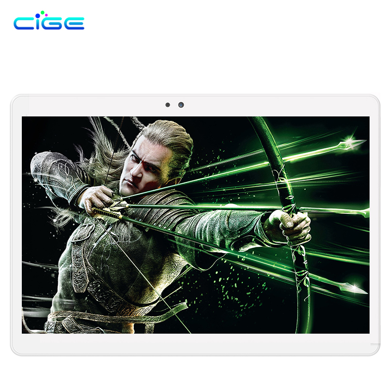 Free shipping Cige 2017 Newest 10.1 inch 3G 4G Lte Tablet PC Octa Core 2GB RAM 32GB ROM Dual SIM Card Android 6.0 IPS tablets 10 teclast p98 9 7 ips octa core android 4 4 3g tablet pc w 2gb ram 16gb rom dual cam tf gold