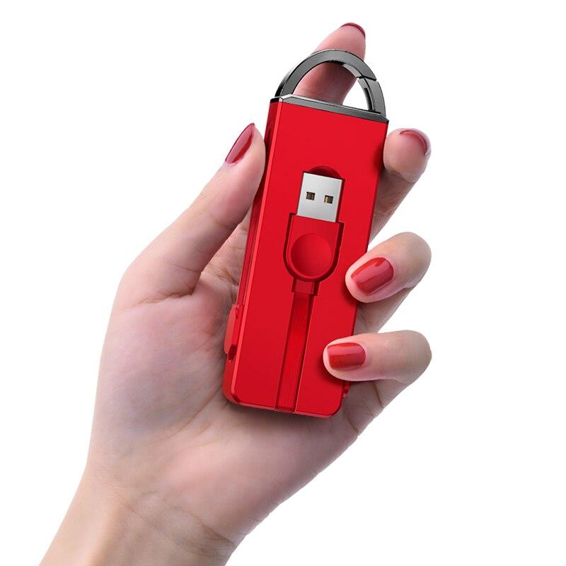 Oatsbasf 3 en 1 Cable Usb tipo C Micro cargador Cable para IPhone 7 6X8 Plus IPad aire llavero oculto Cable de carga para Xiaomi