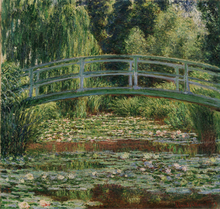 Impression  Claude Monet Painting Japnese Bridge Landscape Wall Art Decoration Printed to Canvas Oil