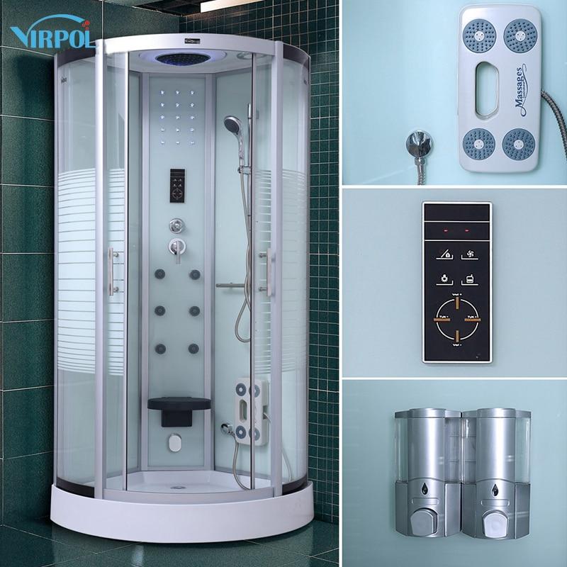 13 Steam Shower Cubicle Enclosure Bath Cabin Room 800mm Luxury ...
