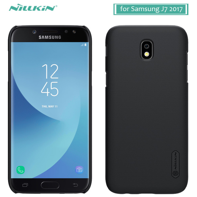 sale retailer a0d7b 3ab2d US $7.19 9% OFF|for Samsung Galaxy J7 2017 Nillkin Frosted Shield Hard Back  Cover Case for Samsung J7 Pro Nilkin Phone Case +Screen Protector-in ...