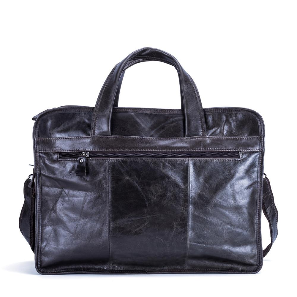 Dark Designer Leder Umhängetasche Coffee Große Echtem 100 Taschen Handtaschen Tote Business Tasche Schulter Männer Aktentaschen Geschenk chocolate Casual SrSHwZ