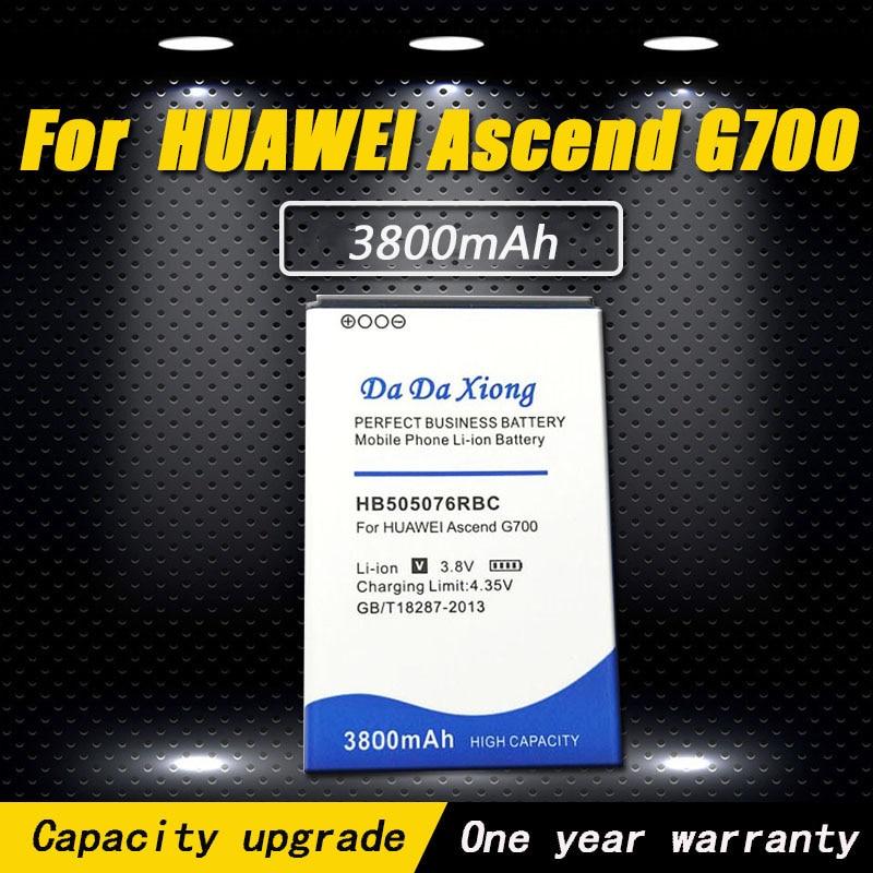 Alta qualidade 3800mAh Bateria Do Telefone para Huawei A199 HB505076RBC G700 G710 Y600 C8815 G610 G610T G610S G716 G606 bateria
