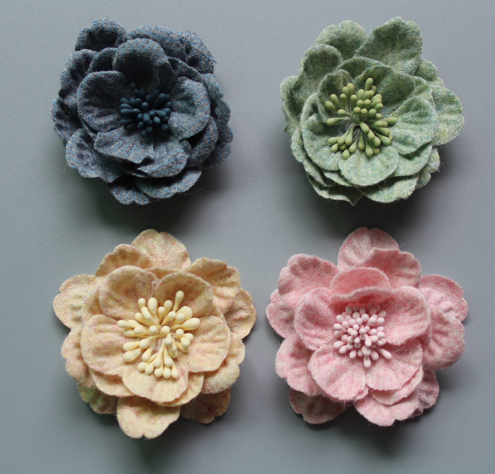 2017 Latest Diy Hand Made Flowers For Hair Accessories Artificial