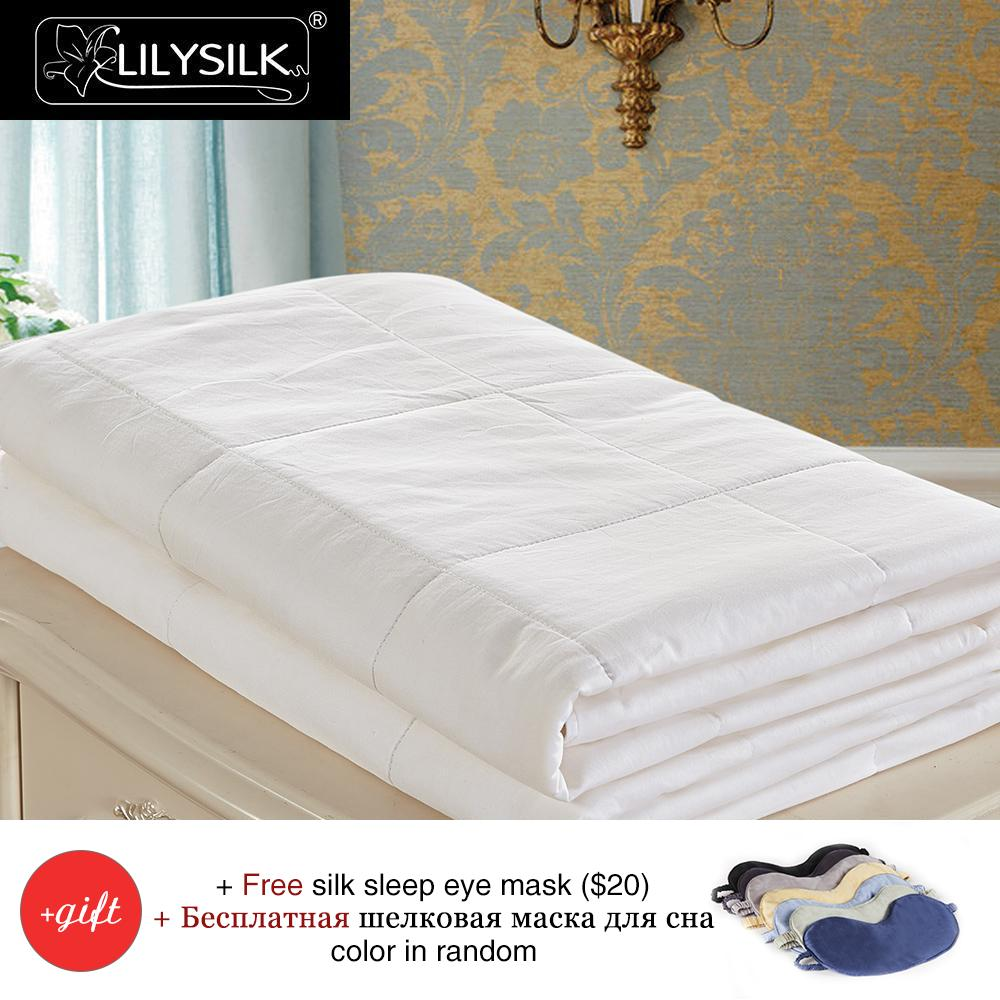 compare prices on comforter machine washable online shoppingbuy  - lilysilk  mulberry silk filled comforter with cotton cover machinewashable all sizes  free