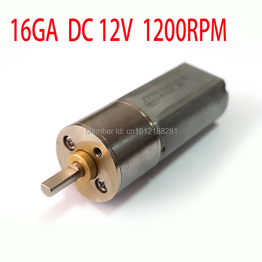 NEW 12v DC motor 1200RPM 40mA Powerful High Torque Gear Box Motor 12V 1200RPM