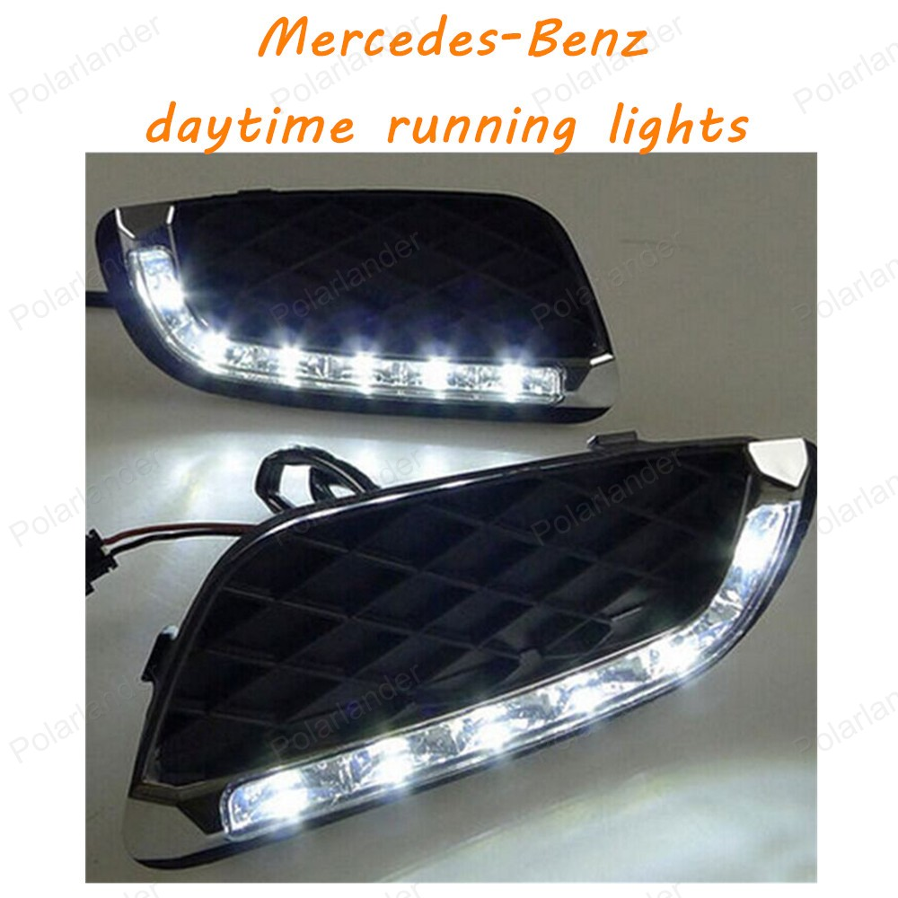 ФОТО Car Headlight of your car styling LED Daytime Running Light DRL Daylight Lamp For Mercedes-Benz smart elf