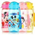 400ml Baby Drink Cup with Straw Leakproof Kids Cartoon Training Drinking Mug Children Portable Lovely Cup Students Water Bottle