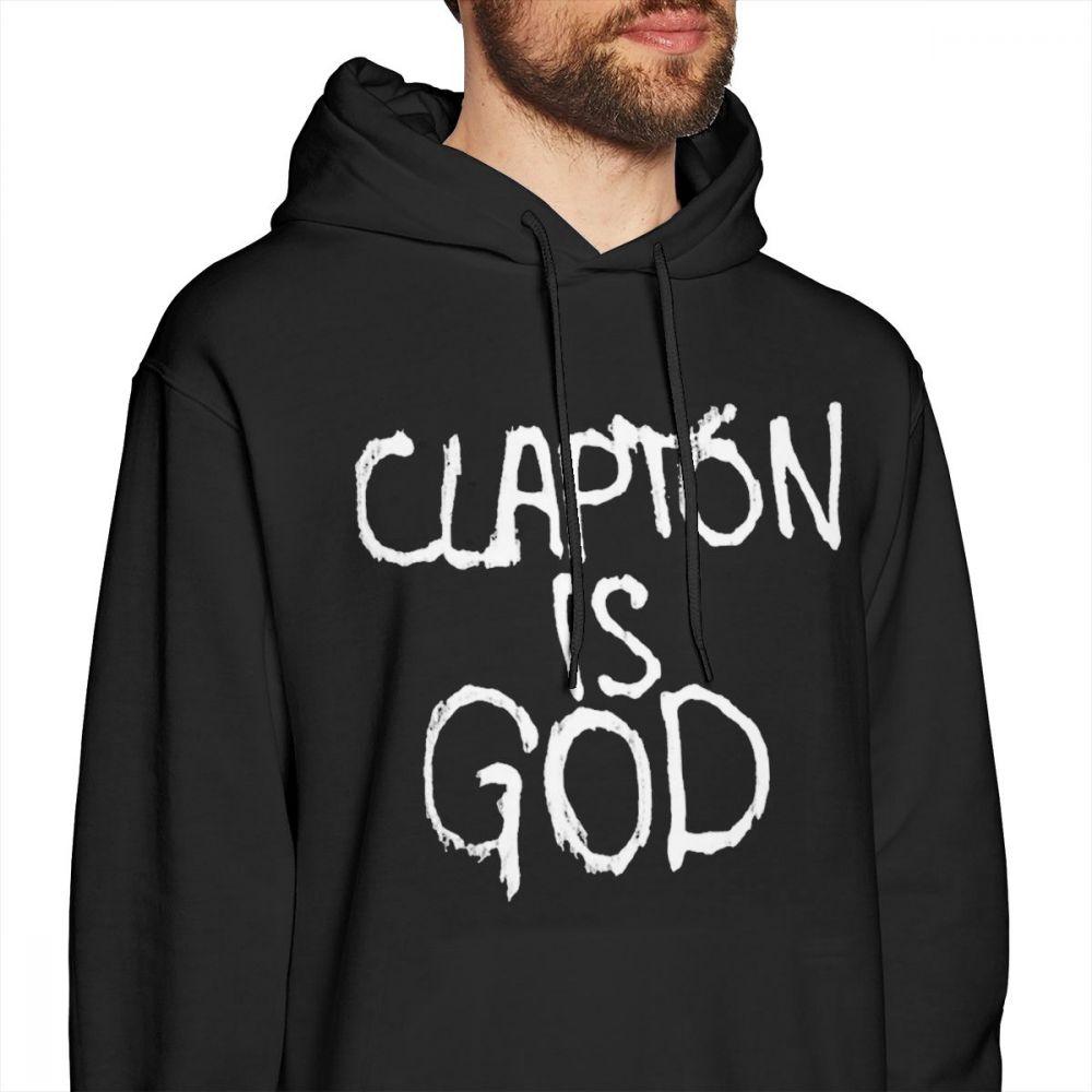 992872baa Eric Clapton Hoodie Clapton Is God White On Black Hoodies Streetwear Nice  Pullover Hoodie Cotton Men Big Long Sleeve Hoodies-in Hoodies & Sweatshirts  from ...