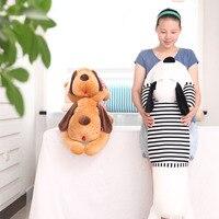 2017 Comfortable Papa Dog Big Head Doll Plush Toy Bed Long Pillow Girl Christmas gift