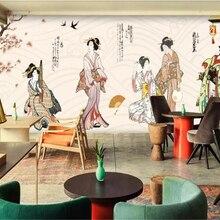 Papel pintado beibehang Vintage japonés mujer jardín herramientas foto papel pintado pared papel tapiz 3d Fondo papel pintado 3d
